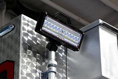Fire truck lights using a Telescoping Pole
