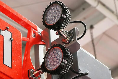 Fire truck scene lighting Dallas FRC2 on a Pierce apparatus