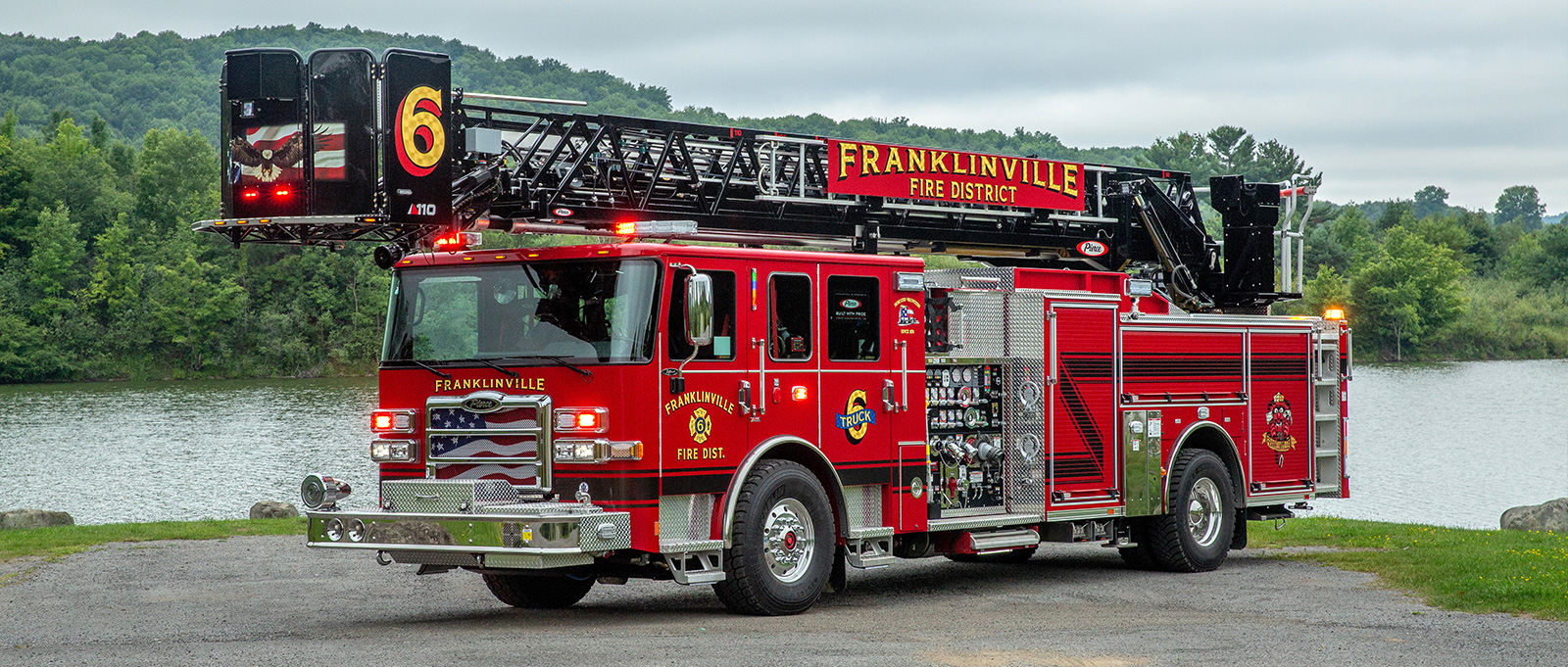 Aerial platform ladder trucks offer a safer workplace and evacuation method during rescue operations.
