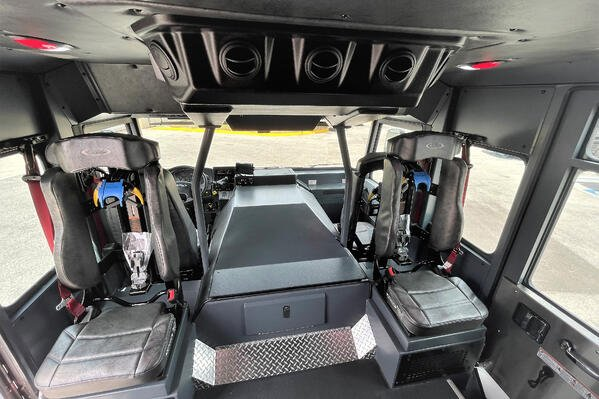 Saber Custom Fire Truck Chassis Interior