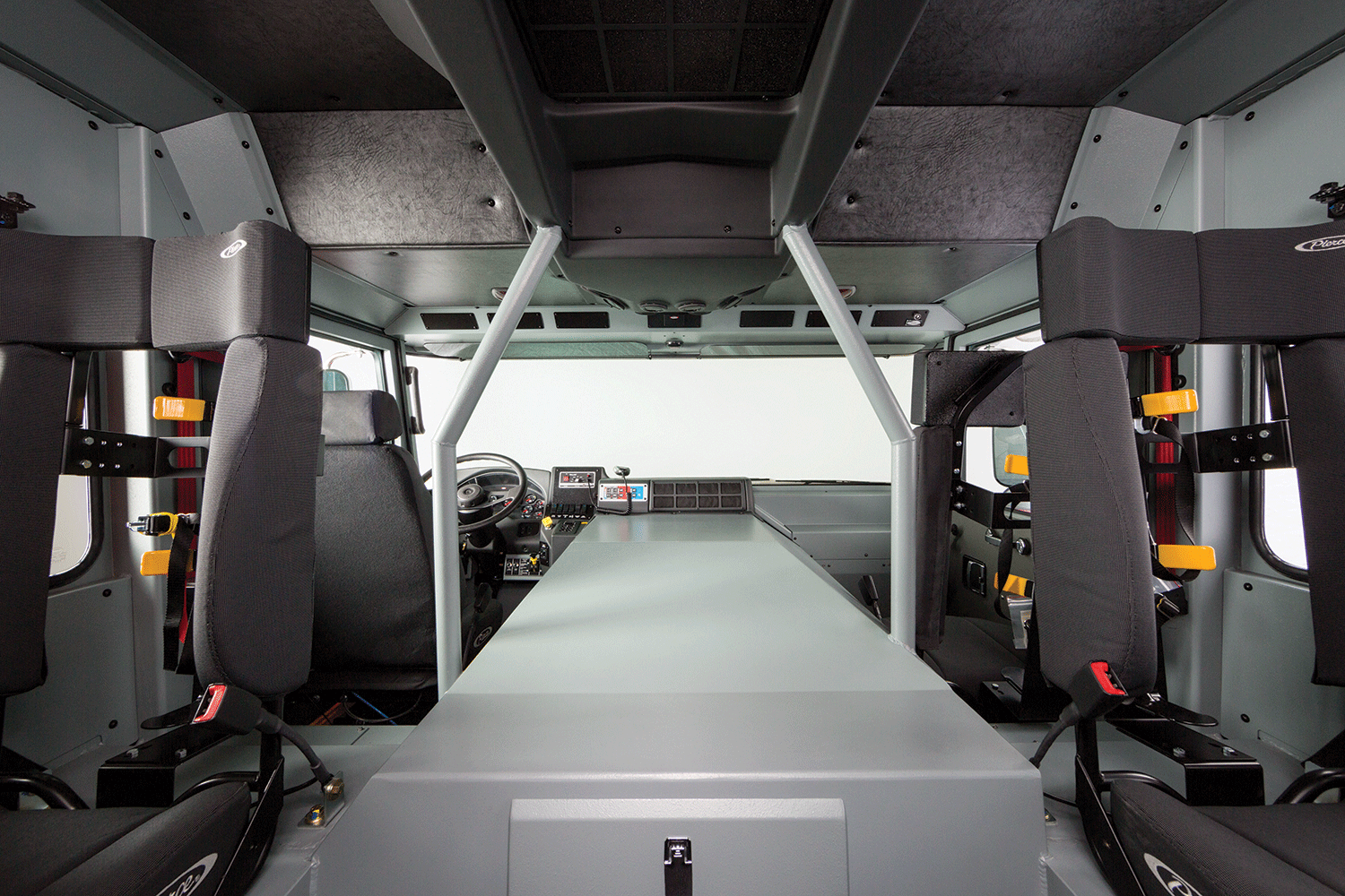 Pierce Enforcer Custom Fire Truck Chassis Cab Interior
