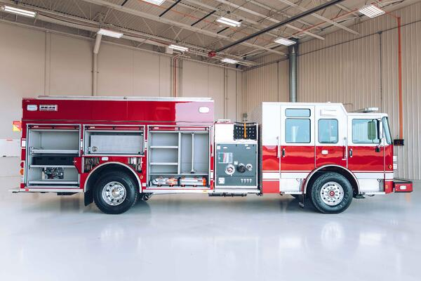 Heavy-Duty Rescue Pumper Fire Truck Officer Side Compartmentation