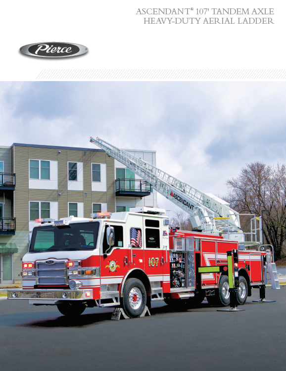 Ascendant® 107' Tandem Axle Heavy-Duty Aerial Ladder