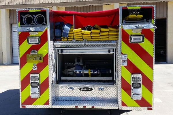Pierce Mini Pumper Fire Truck Rear Compartment