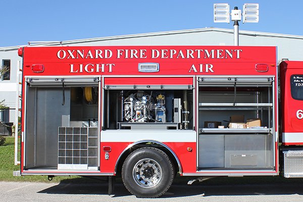 Pierce ENCORE Rescue Fire Truck Compartments