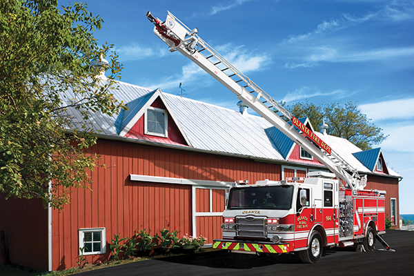 Pierce Heavy-Duty Sky-Boom Aerial Tower Extended Fire Truck