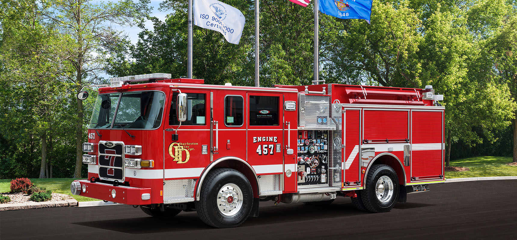 Finley Fire Equipment has secured an order for two Pierce Arrow XT pumpers for Charleston, WV Fire Department