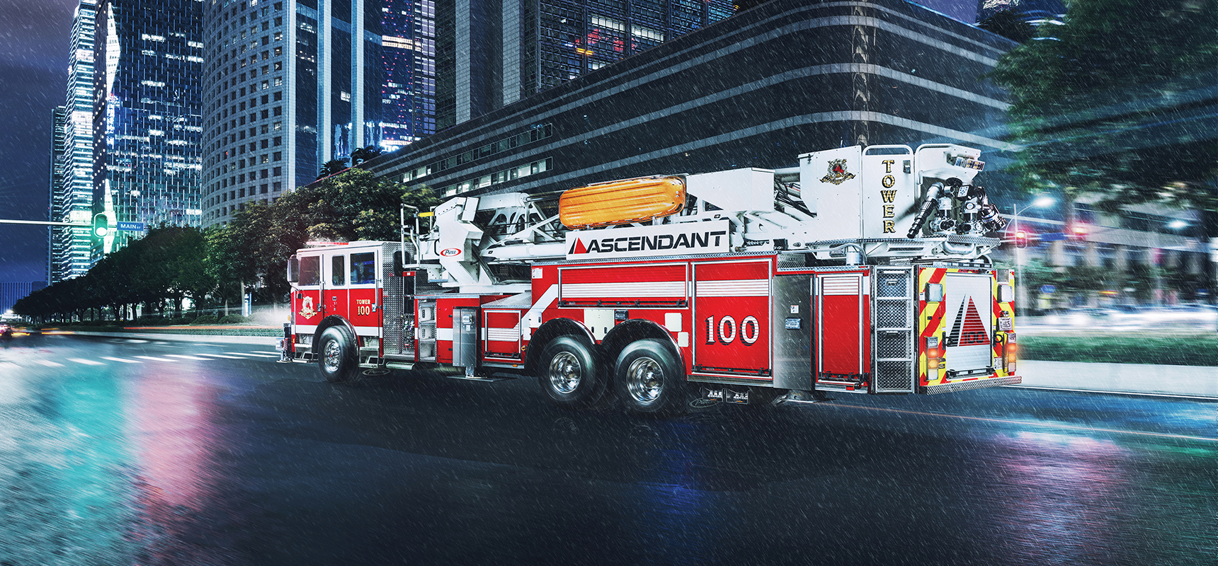 Pierce secures an order for 11 custom apparatus for Greenwood County Fire Service including 100' heavy-duty rear mount aerial tower