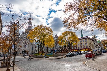 City streets of Quebec