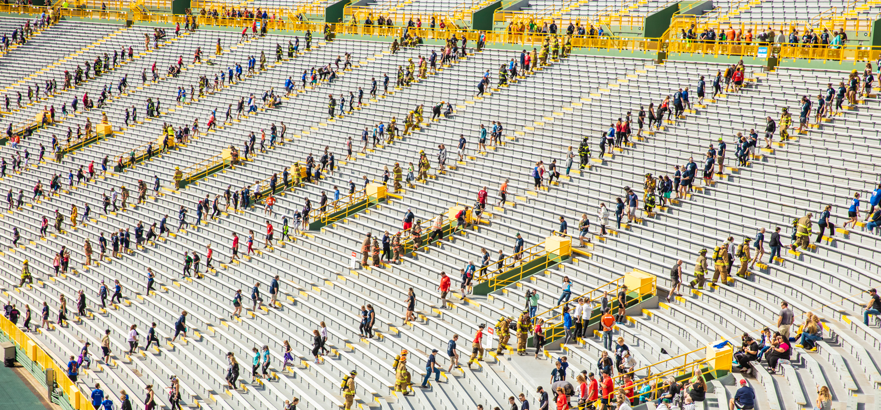 Over 2,200 participants climbed the steps of Lambeau Field for the 9/11 Memorial Stair Climb on September 7, 2019