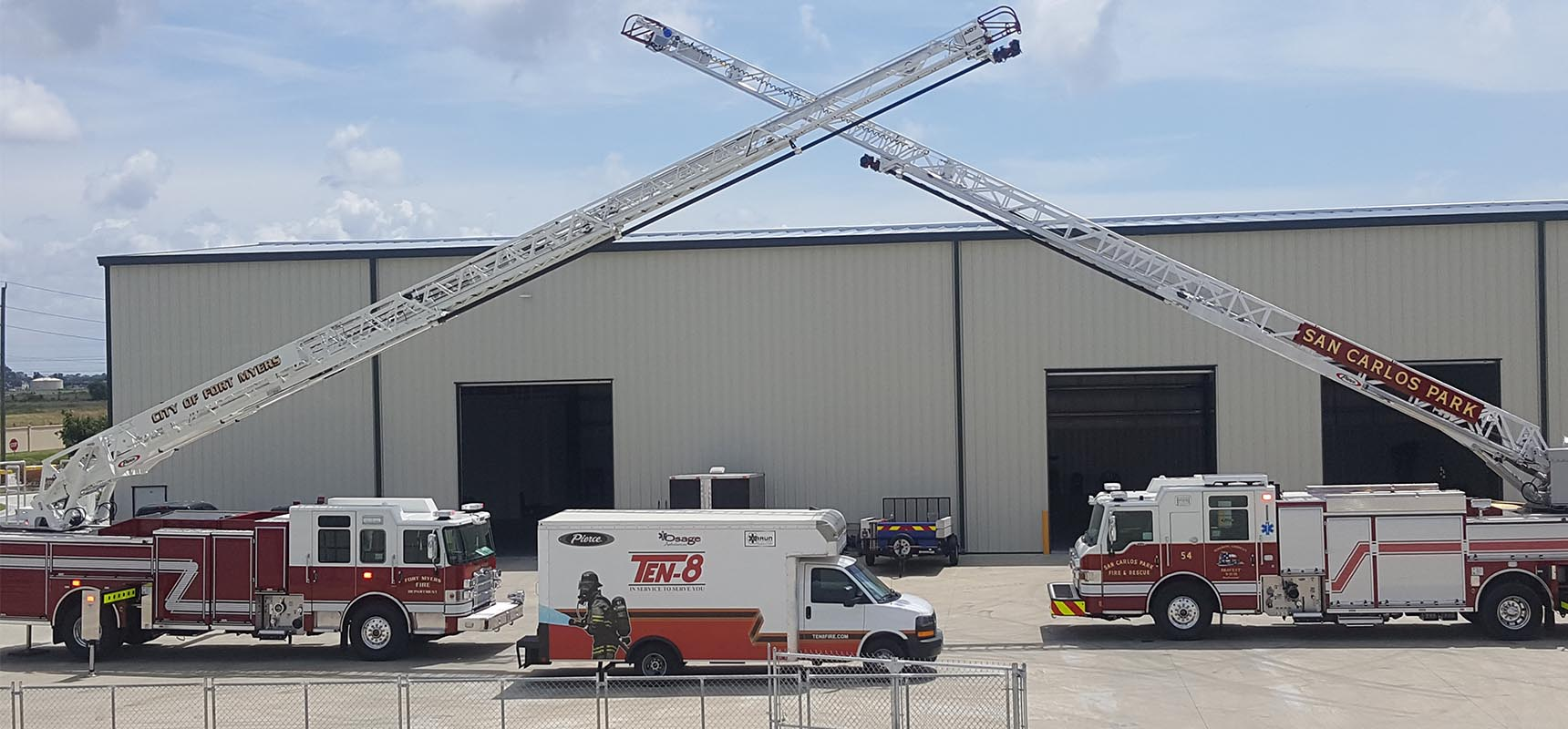 Ten-8 Fire Equipment , exclusive Pierce dealer for Florida and Georgia, has opened a new service center in Fort Myers, Florida