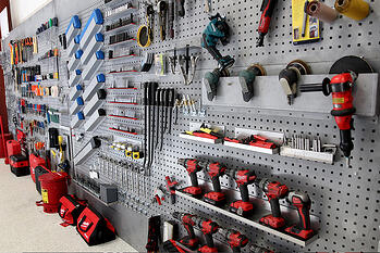 Pierce Training Center wall of tools