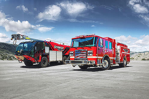 Pierce Manufacturing and Oshkosh Airport Products new Volterra platform of electric fire apparatus