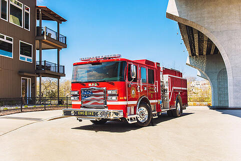 Pierce Manufacturing's new Volterra electric fire truck in Madison, WI
