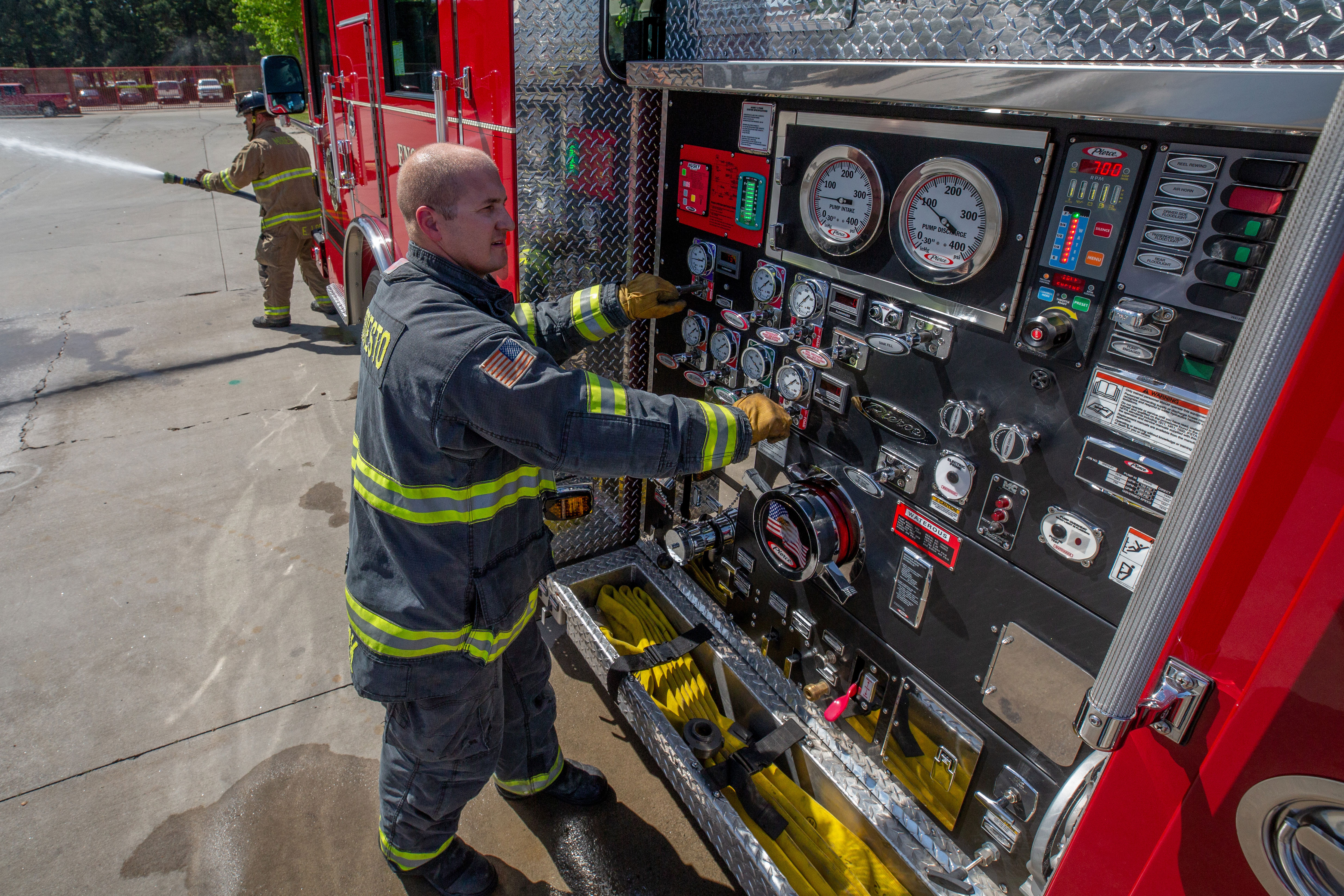 Pierce Pumper Fire Truck Pump Panel
