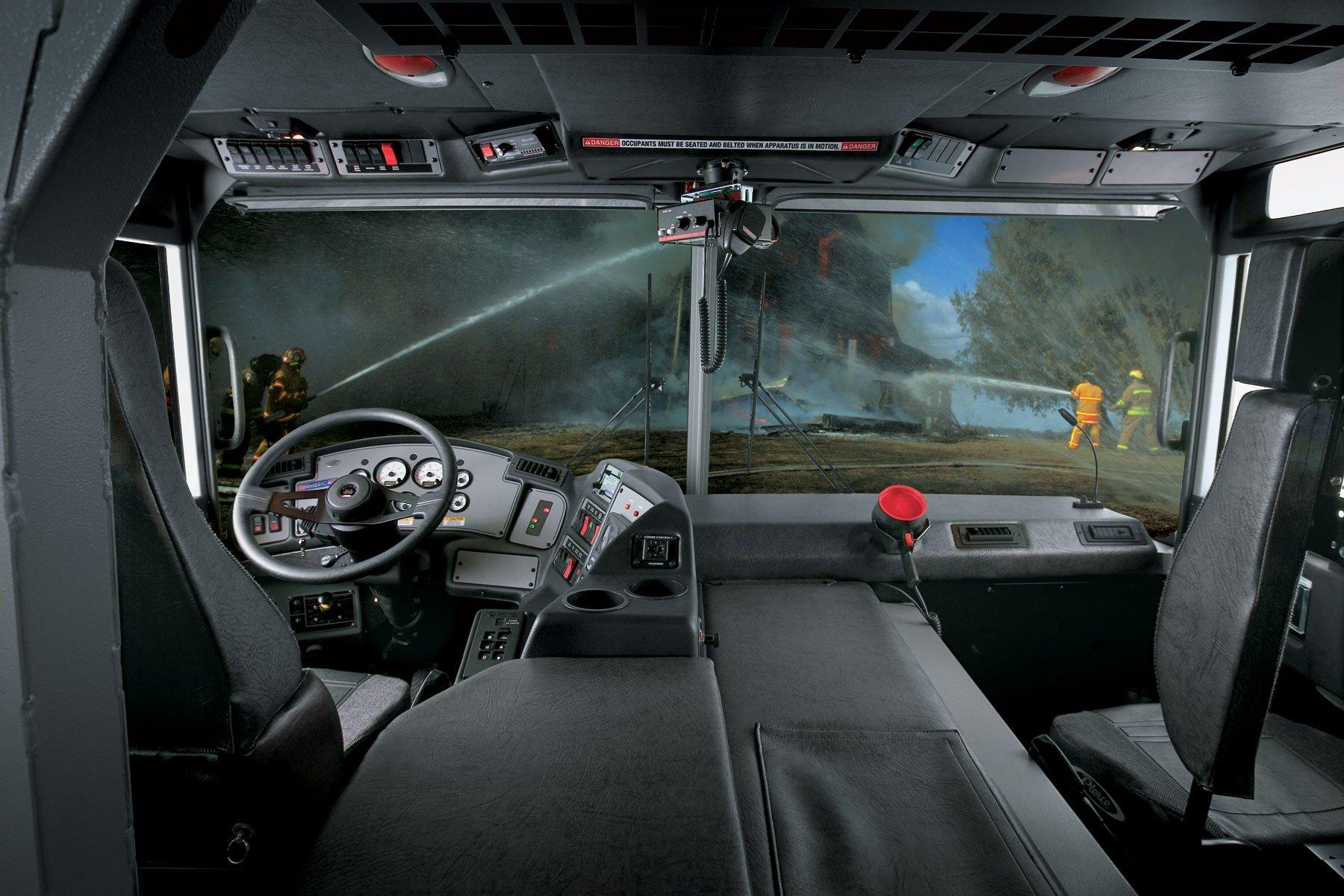 Pierce Quantum Custom Fire Truck Chassis Cab Interior