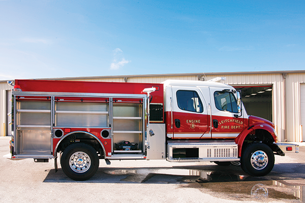 Pierce Pumper Responder Fire Truck Officers Side Compartments