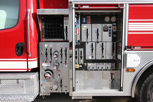 Pierce Pumper Responder Fire Truck Pump Panel Layout