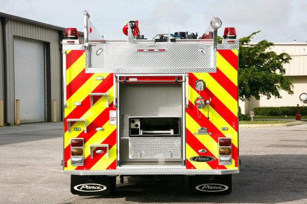 Pierce Pumper Responder Fire Truck Rear Compartment