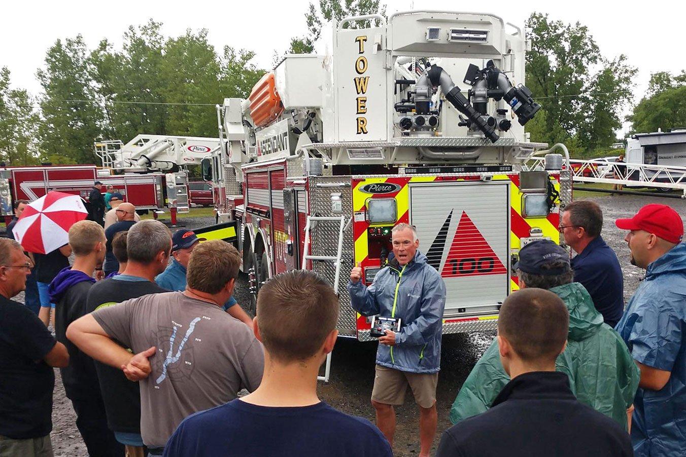 Pierce Road Rally Fire Truck Demo