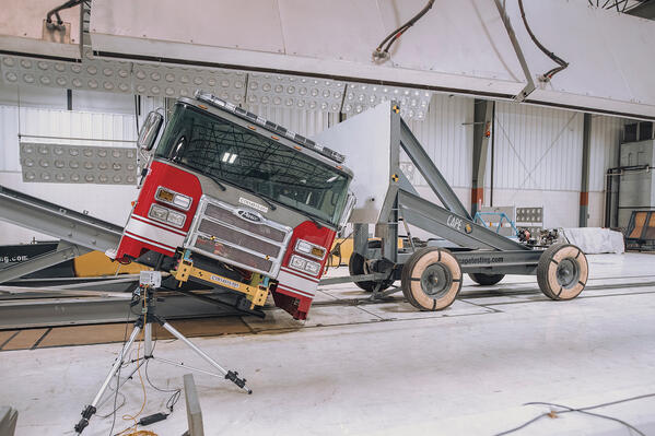 Occupant Protection Fire Truck Cab Crash Testing Side Roll Testing