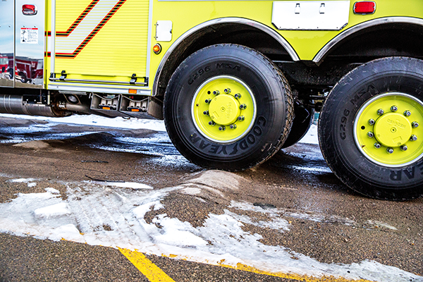 Pierce Fire Truck TAK-4 Suspension Safety Testing