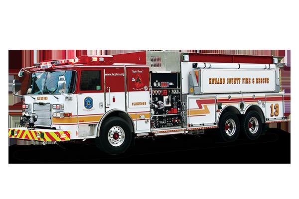 Pierce Dry Side Tanker Fire Truck Drivers Side