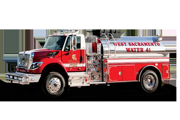 Pierce Elliptical Tanker Fire Truck Drivers Side