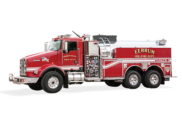 Pierce Elliptical Tanker Tender Fire Truck Drivers Side