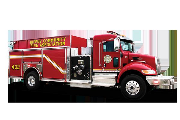 Pierce Pumper Tanker Commercial Chassis Fire Truck Passengers Side