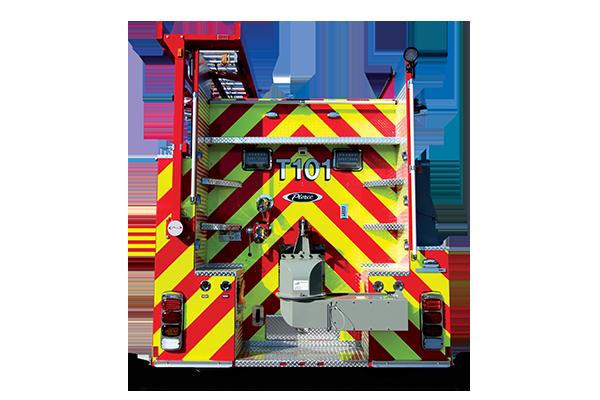 Pierce Pumper Tanker Fire Truck Rear Dump