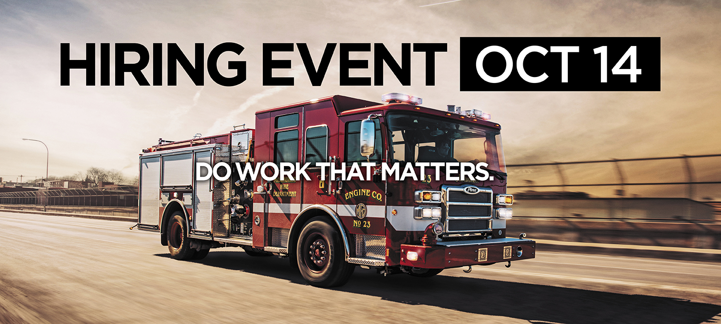 Pierce Manufacturing Now Hiring Event October
