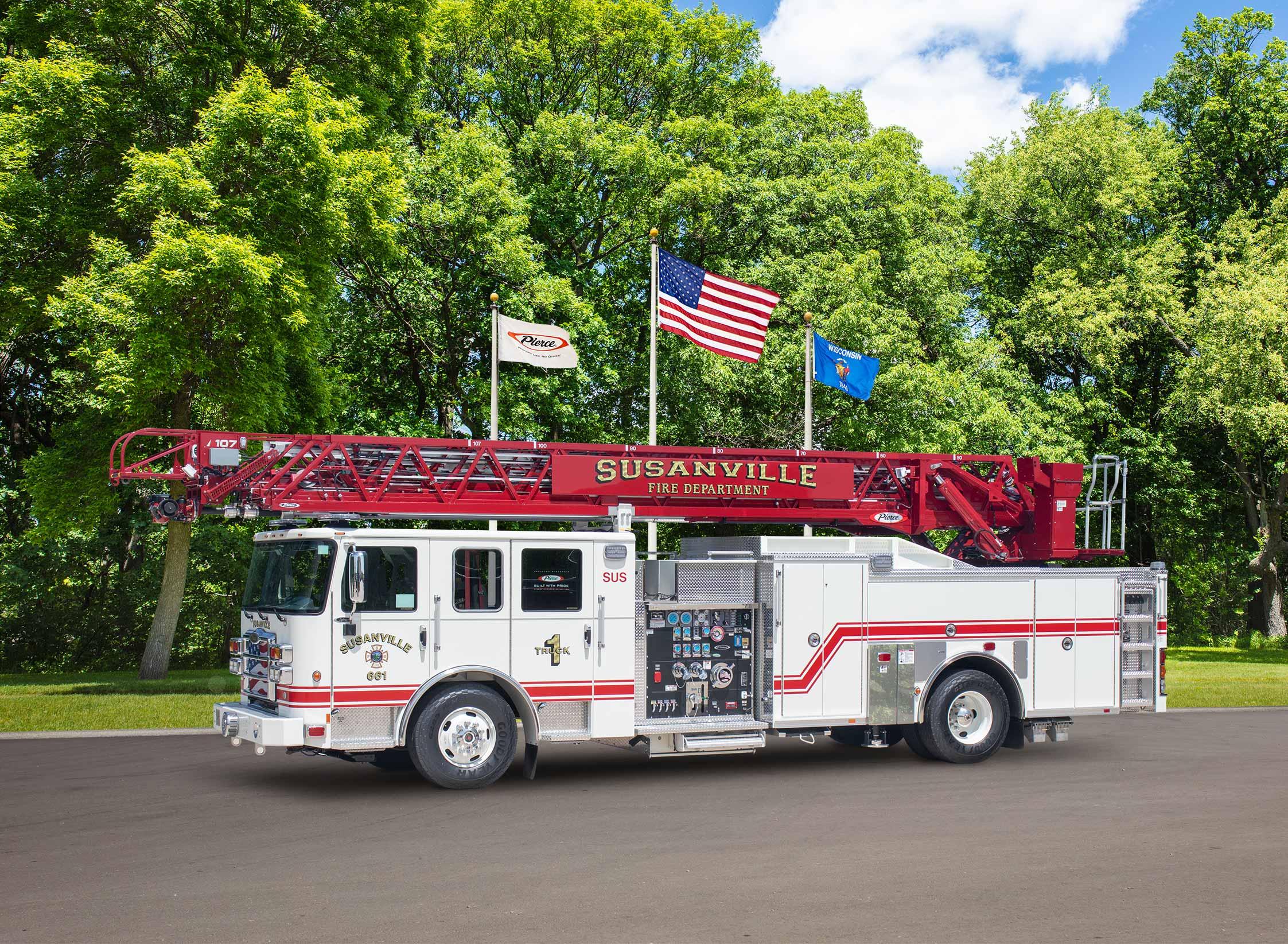 Susanville City Fire - Aerial