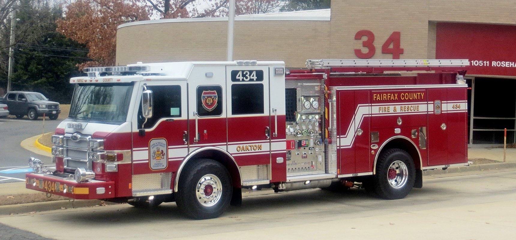 Pierce Places 100th Fire Apparatus with Fairfax County Fire and