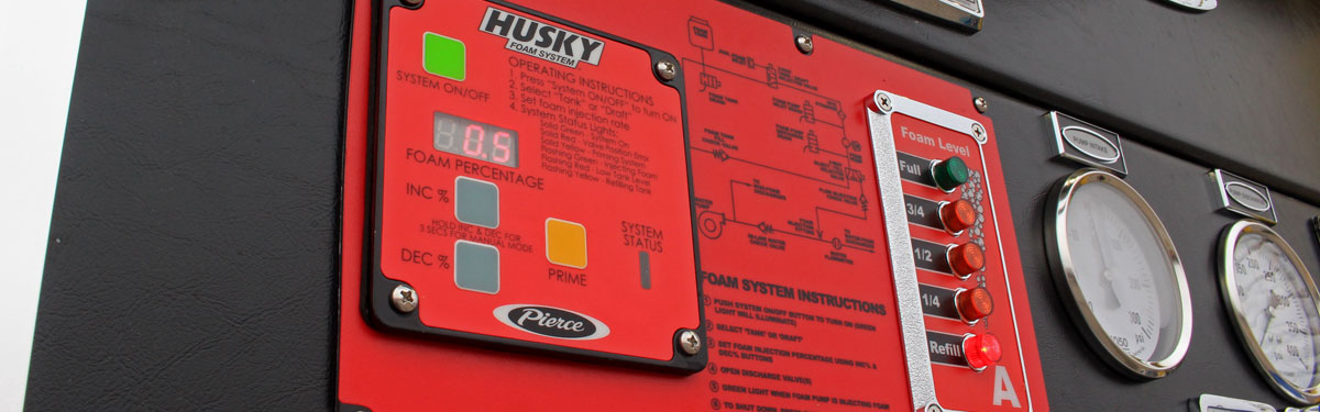 Pierce Husky 3 Fire Truck Foam System