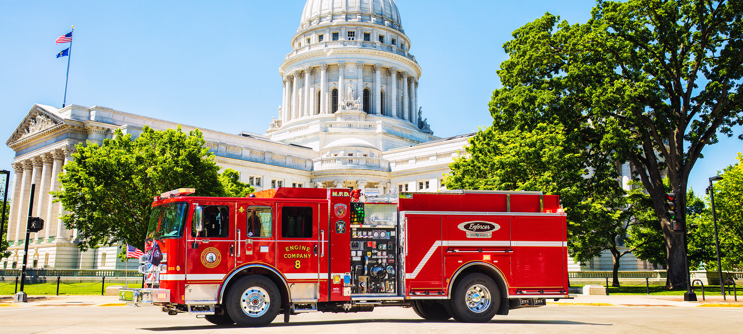 Electric Fire Truck for the City of Madison Wisconsin